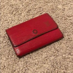 Louis Vuitton Red Epi 6-Key Holder - Authentic